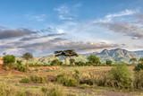 Fototapeta Sawanna - ethiopian landscape near Arba Minch. Ethiopia Southern Nations Region, Africa Omo valley wilderness