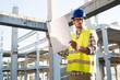 Leinwandbild Motiv Young business man construction site engineer