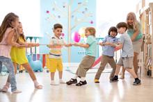 Group Of Preschool Children Pl...