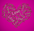 canvas print picture - Love concept icon means I adore you and I'm Yours - 3d illustration