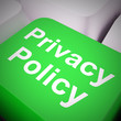 canvas print picture - Privacy policy or statement of intent for data protection directive - 3d illustration