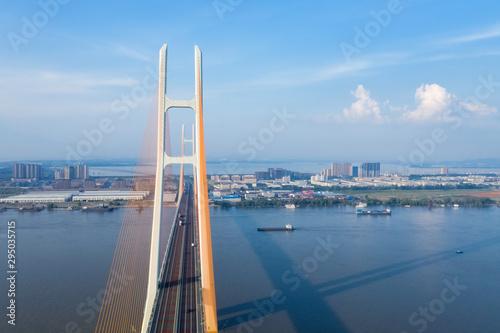 Fotografie, Obraz cable-stayed bridge closeup