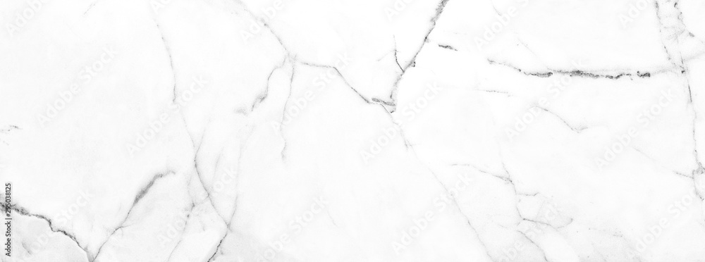 Fototapeta White Carrara Marble Texture Background With Curly Grey-Brown Colored Veins, It Can Be Used For Interior-Exterior Home Decoration and Ceramic Decorative Tile Surface, Wallpaper, Architectural Slab.