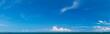 Leinwandbild Motiv Panorama of sea and sky