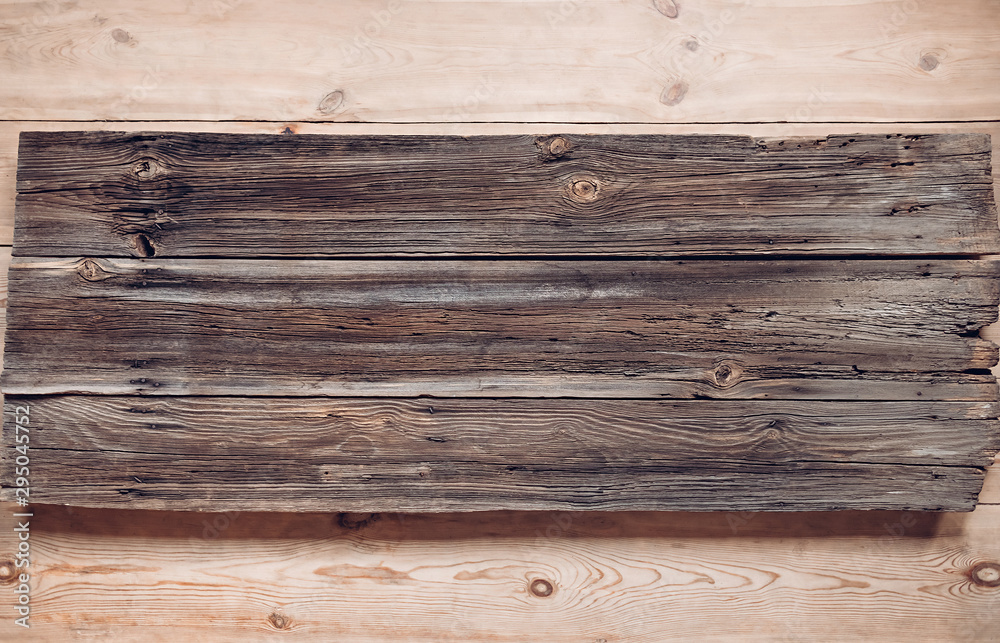 Fototapety, obrazy: Very old wood planks texture with rusty nails