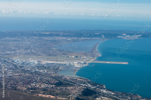 Vue aérienne Marseille Marignane Canvas Print