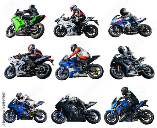 Fotomural  collage riders on sportbikes