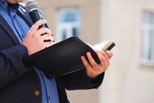 A Preacher With A Microphone I...