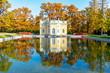 Leinwanddruck Bild - Upper bath in Catherine park in autumn, Tsarskoe Selo (Pushkin), St. Petersburg, Russia