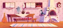 Old Russian Kitchen Interior W...