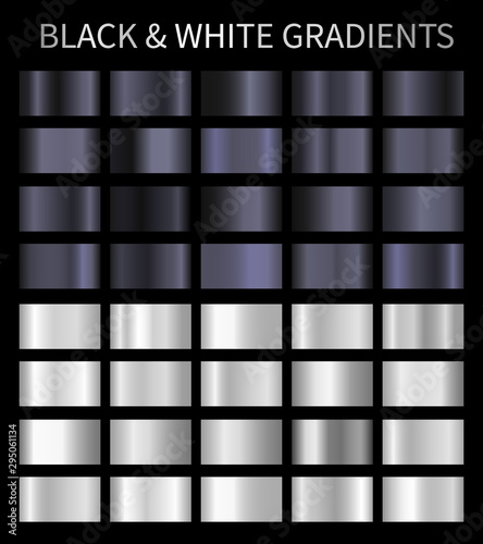 Black and white vector gradients Canvas Print