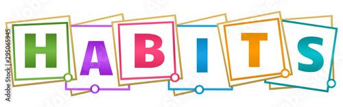 Stampa su Tela  Habits Colorful Borders Blocks
