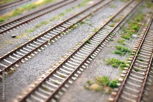 Poster Voies ferrées Multiple railway lines