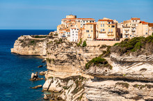 Coastline And Old Town Of Bonifacio On Corsica