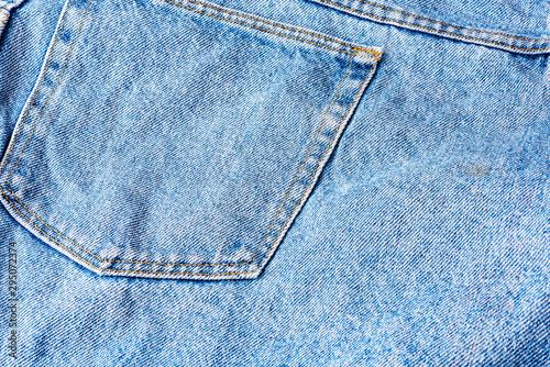 Fotografía  Close up photo of blue jeans pocket Background