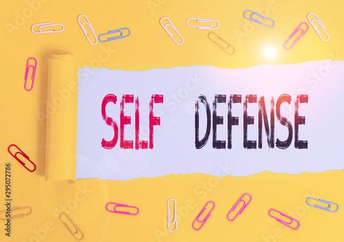 Handwriting text Self Defense Wallpaper Mural