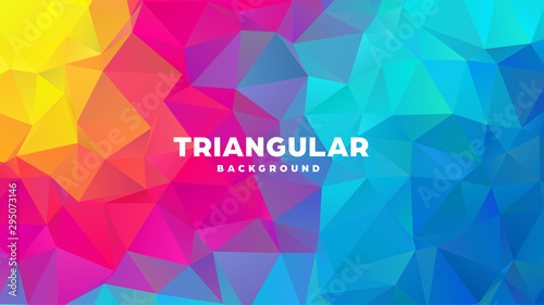 Photo Triangle polygonal abstract geometric background