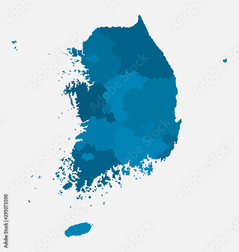 Photo South Korea country map background vector template