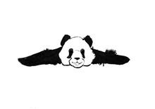 Panda Lies With His Paws Sprea...