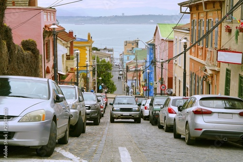 Colorful streets of Valparaíso, Chile