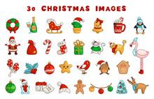 Vector Kawaii Christmas Collection