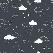 Fun Clouds Seamless Pattern, H...