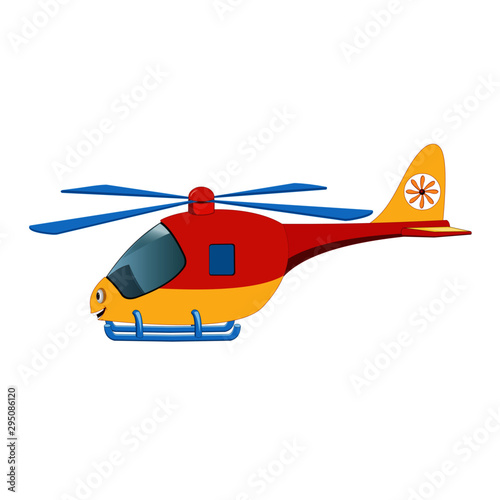 Flying Helicopter Side View Cartoon Vector Image Buy This Stock Vector And Explore Similar Vectors At Adobe Stock Adobe Stock