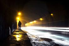 A Man Going Through The Dark O...