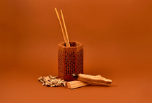 Incense Sticks And Ritual Fumi...