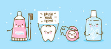 Cute Tooth And Objects For Den...