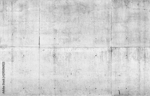 Empty gray concrete wall. Seamless - 295096923