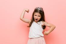 Little Girl Wearing A Princess...
