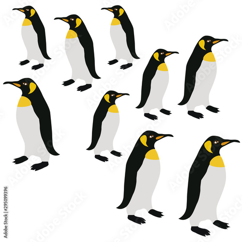 Acrylic Prints Birds, bees Penguins on Ice Seamless Pattern, Penguin Winter Animal Surface Pattern, Penguin Vector Repeat Pattern for Home Decor, Textile Design, Fabric Printing, Stationary, Packaging, Wall paper or Background