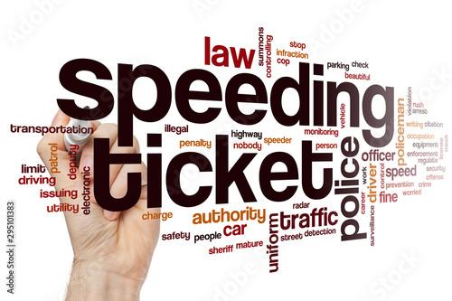 Fotomural  Speeding ticket word cloud