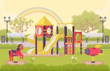 Playground Structure, Outdoor ...
