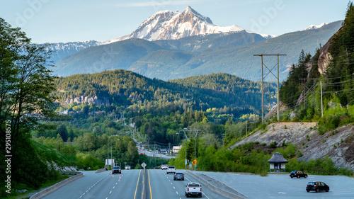 Panoramic Aerial view of Squamish, British Columbia, Canada. Wallpaper Mural