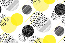 Vector Circles Abstract Seamle...