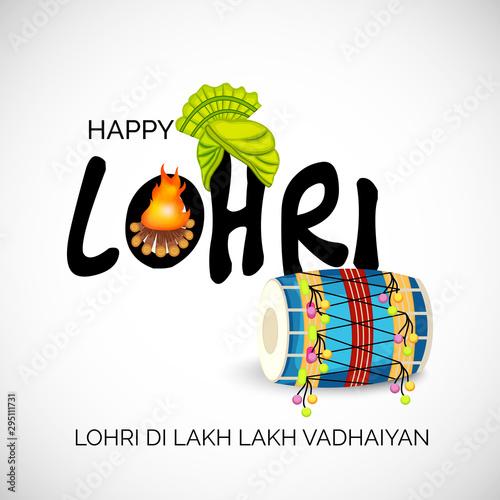 Happy Lohri Tablou Canvas