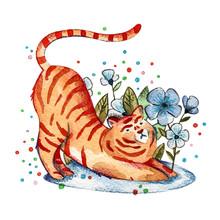 Cute Watercolor Animal. Hand Drawn Illustration. Watercolor Illustration