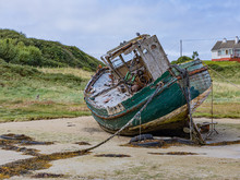 Fishing Boat Wreck Star Of The Sea Beached On Cruit Island, Wild Atlantic Way, County Donegal, Ireland