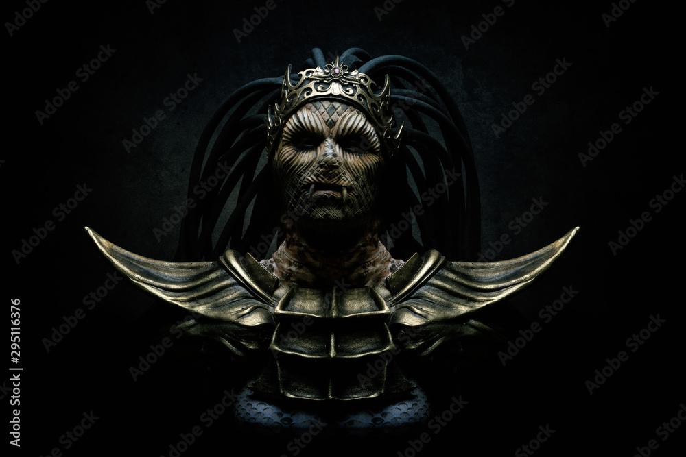 Fototapety, obrazy: Portrait of the goddess with snakes