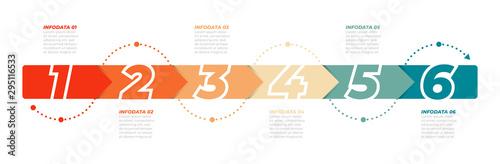 Fotografia  Timeline infographic template