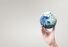 Globe ,earth In Hand, Holding ...