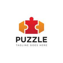 Puzzle Logo And Icon Vector Il...