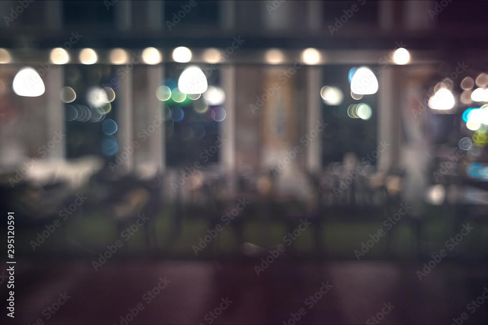 Fototapeta defocused bokeh light, abstract background at night