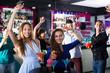 Females enjoying party in nightclub