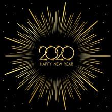 Golden Happy New Year 2020 In ...