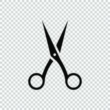 Scissors Icon Symbol Design Fl...
