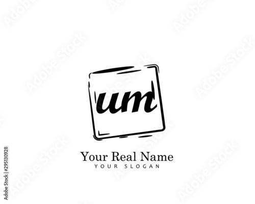 UM Initial beauty monogram logo vector Wallpaper Mural