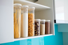 Stocked Kitchen Pantry With Fo...